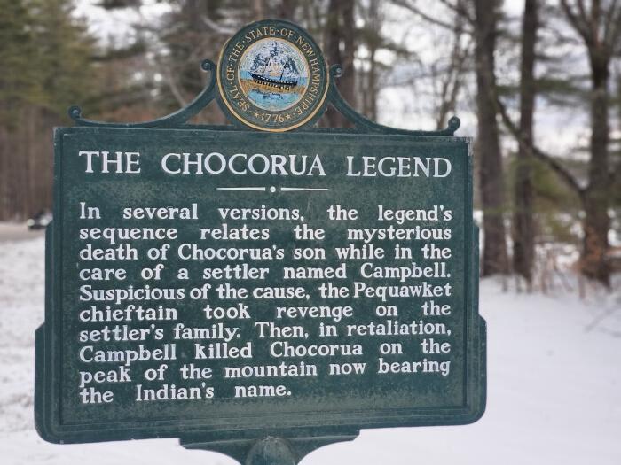 Tamworth, Chocorua Legend